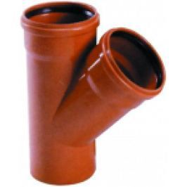 RAMIFICATIE PVC CU GARNITURA PT CANALIZARE LA 45 GRD D.125x125mm