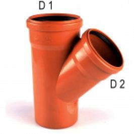 RAMIFICATIE REDUSA PVC PT CANALIZARE LA 45 GRD D.200x125mm