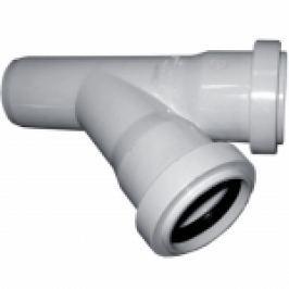 RAMIFICATIE PVC FONOABSORBANTA 4silence 45° D.50x50mm