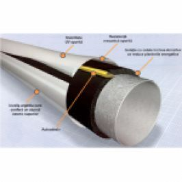 TUB IZOLATIE DIN CAUCIUC CU PROECTIE MULTISTRAT MECANICA SI ANTI-UV D.15x11,5mm