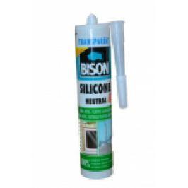 SILICON CONSTRUCTII 'BISON' pH NEUTRU 280 ml. TRANSPARENT