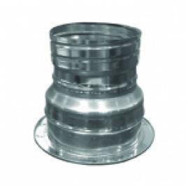 RACORD DIN INOX PT TRECERE DE LA COS FUM DUBLU PERETE LA TUB FLEXIBIL D.INT350/D.EXT400-D.350