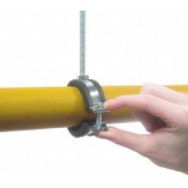 COLIER METALIC CU GARNITURA, PRINDERE RAPIDA IN SURUB PT FIXAREA TEVILOR METALICE M8 25-28mm