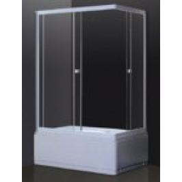 CABINA DUS TESALIA CU CADITA INALTA, PR. ALB, GEAM TRANSPARENT 5mm,SIFON, L.120xL.80xH.200cm,Sx