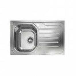 "CHIUVETA INOX DEKOR PE BLAT OLL 611 (INCL. VENTIL 3 1/2"", MASTIC, CLEME), L.79x50cm, DREAPTA"