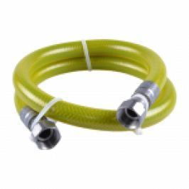 RACORD GAZ INOX FLEXIBIL-NEEXTENS., CU FOLIE-PROTECTIE (EN14800), DN.15 1/2Mx1/2F L.2000mm