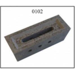 DUZA CERAMICA REFRACTARA PT. CAZAN GAZEIFICARE VIGAS, 25-80kW, 305x110x100mm, 3 GAURI,
