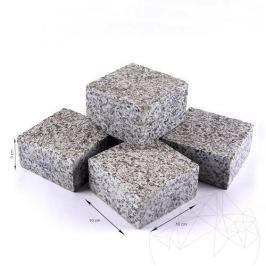 Piatra Cubica Granit Gri Sare si Piper Fiamata 10 x 10 x 5 cm