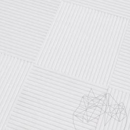 Thassos Coco Line Marble 15 x 15 x 1cm