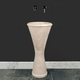Bathroom Sink - Classic Travertine BW-035 BRVR, 40 x 83 cm