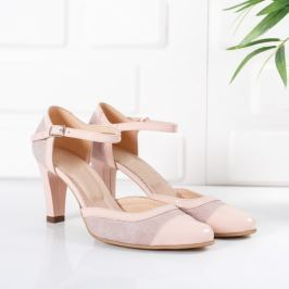 Sandale Piele Fenima roz pal
