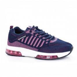 Pantofi dama sport Monga bleumarini cu roz
