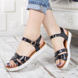 Sandale Mariti negre cu tapla joasa