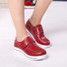Pantofi Piele Ginny rosii comozi