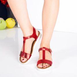 Sandale Daiane rosii cu talpa joasa