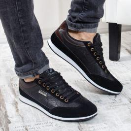 Pantofi sport barbati Midil negri cu imprimeu