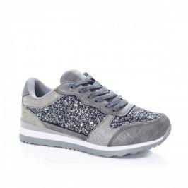 Pantofi dama sport Varille gri cu gliter