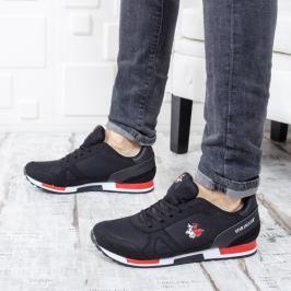 Pantofi sport barbati Surolo negri cu rosu