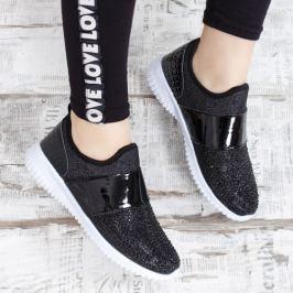 Pantofi sport Togir negri cu pietre aplicate
