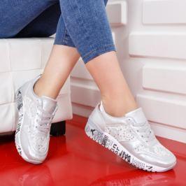 Pantofi sport Amexin argintii
