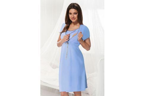 Camasa de noapte Dorota albastru, sarcina si alaptare Lenjerie pentru femei