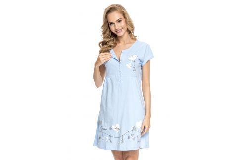 Camasa de noapte Tamara Blue, sarcina si alaptare Lenjerie pentru femei