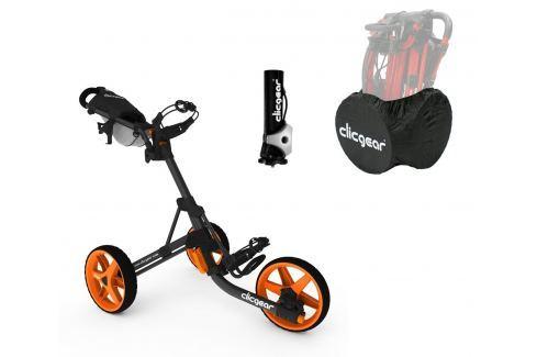 Clicgear 3.5 Plus Charcoal/Orange DELUXE SET Cărucioare manuale