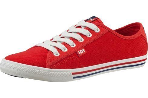 Helly Hansen FJORD CANVAS FLAG RED - 42,5 BOATS/Pánska obuv