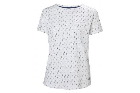 Helly Hansen W NAIAD T-SHIRT WHITE ANCHOR - L BOATS/Dámske tričká / Mikiny