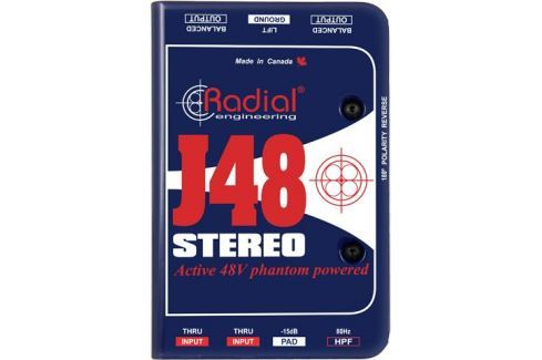 Radial J48 Stereo Phantom Powered Active Direct Box (B-Stock) #909425 Di-uri, divizoare de semnal