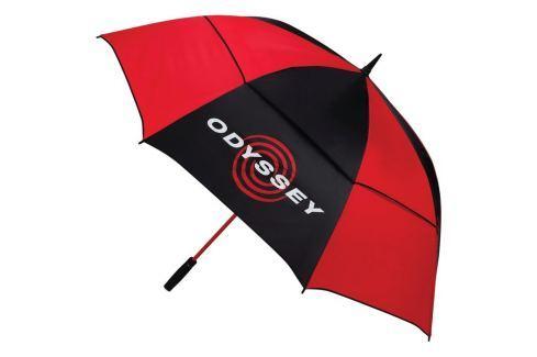 Callaway 68'' Auto Open Double Canopy Umbrella Black/Red 2018 Umbrele