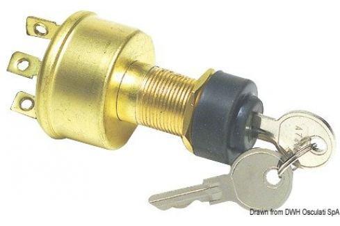 Osculati Watertight ignition key 4 positions brass BOATS-Întrerupătoare / Comutatoare
