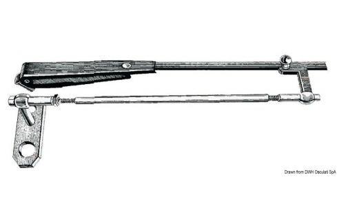 Osculati SS parallelogram arm for windshield wiper 432/560mm BOATS-Trape / Hublouri