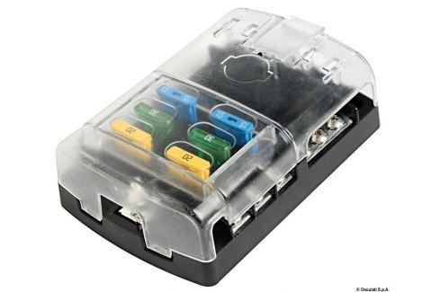 Osculati Polycarbonate fuse holder box 6 seats BOATS-Acumulatoare / Accesorii