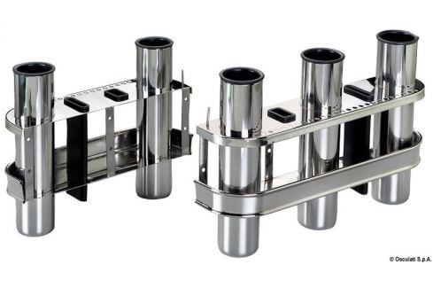 Osculati SS rod holder for bulkhead mounting 2 rods - stainless steel Fishing
