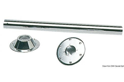 Osculati Table leg 70 cm chrome-plated steel BOATS-Mese / Scaune