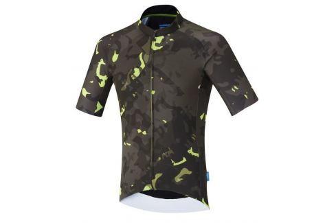 Shimano Breakaway Short Sleeve Jersey Neon Lime L Îmbrăcăminte pentru biciclete