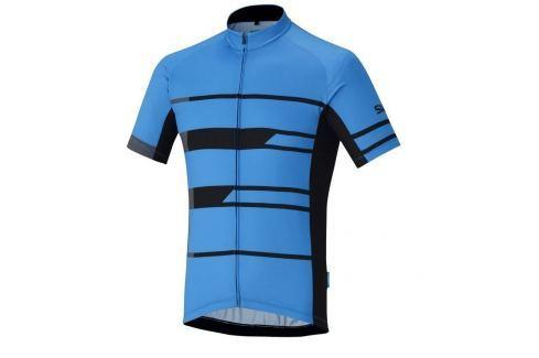 Shimano Team Short Sleeve Jersey Blue XL Îmbrăcăminte pentru biciclete