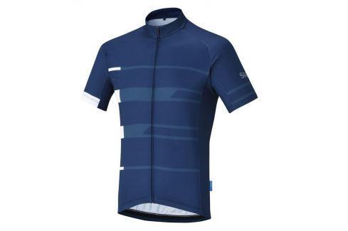 Shimano Team Short Sleeve Jersey Navy M Îmbrăcăminte pentru biciclete