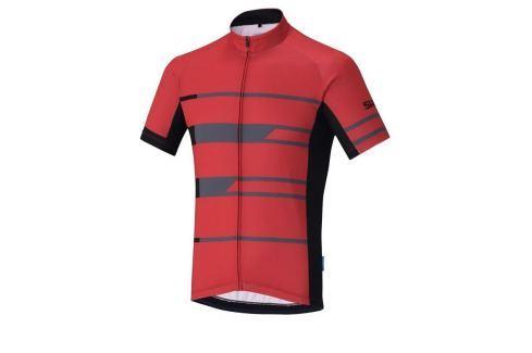 Shimano Team Short Sleeve Jersey Red M Îmbrăcăminte pentru biciclete