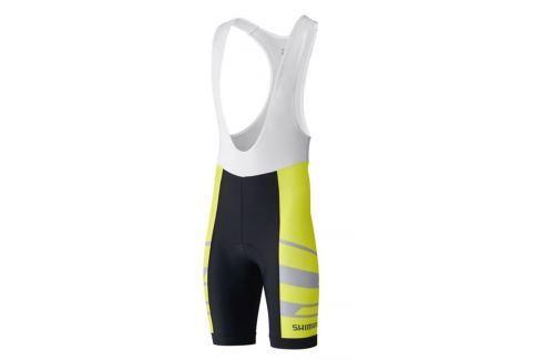 Shimano Team BIB Shorts Neon Yellow XL Îmbrăcăminte pentru biciclete