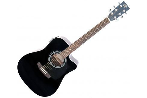 SX SD1-CE Black (B-Stock) #909111 Dreadnought electro-acustică