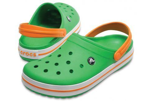 Crocs Crocband Clog Green/White/Blazing Oran 42-43 BOATS/Pánska obuv