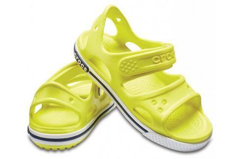 Crocs Crocband II Sandal PS Tennis Ball Green/White 27-28 BOATS/Detská obuv