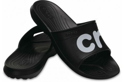 Crocs Classic Graphic Slide Unisex Adult Black/White 45-46 BOATS/Pánska obuv