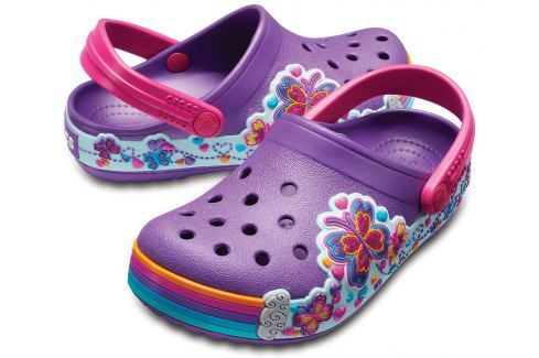 Crocs Crocband Fun Lab Graphic Clog Kids Amethyst-24-25