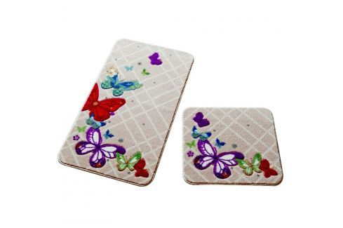Set 2 covorașe de baie Confetti Bathmats Butterfly Covoare și carpete