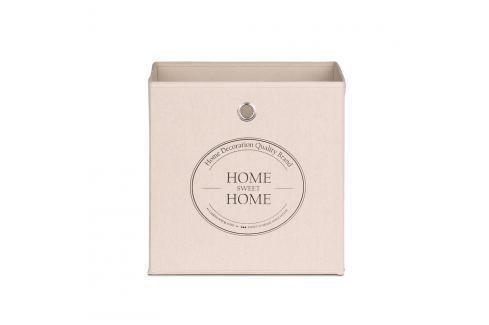 Cutie pentru depozitare Intertrade Home Sweet Home, bej Cutii pentru depozitare și coșuri
