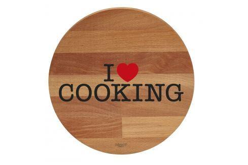 Tocător din lemn de fag Bisetti I Love Cooking, 30 cm Tocătoare
