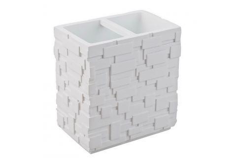 Pahar pentru periuțe de dinți Tomasucci Wall, alb Cutii pentru depozitare și coșuri